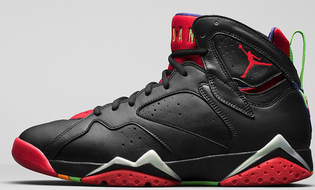 air jordan 7 black and red