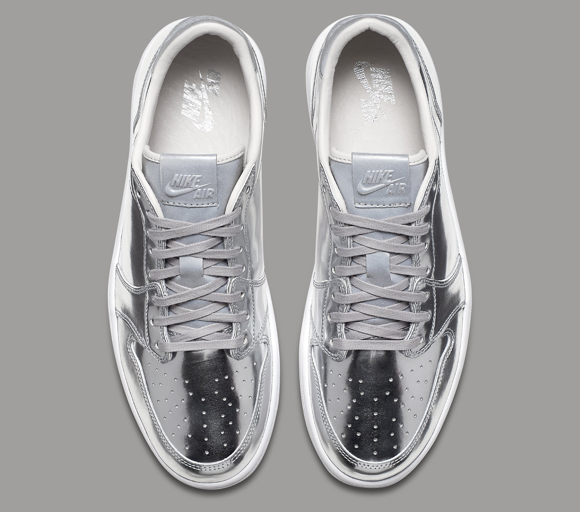 Silver Air Jordan 1 Low 852549-003 Top