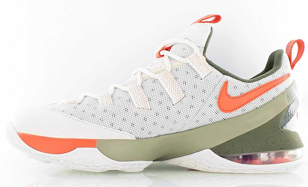 best service 023cf c6747 Nike LeBron 13 Low White Green Orange   Sole Collector
