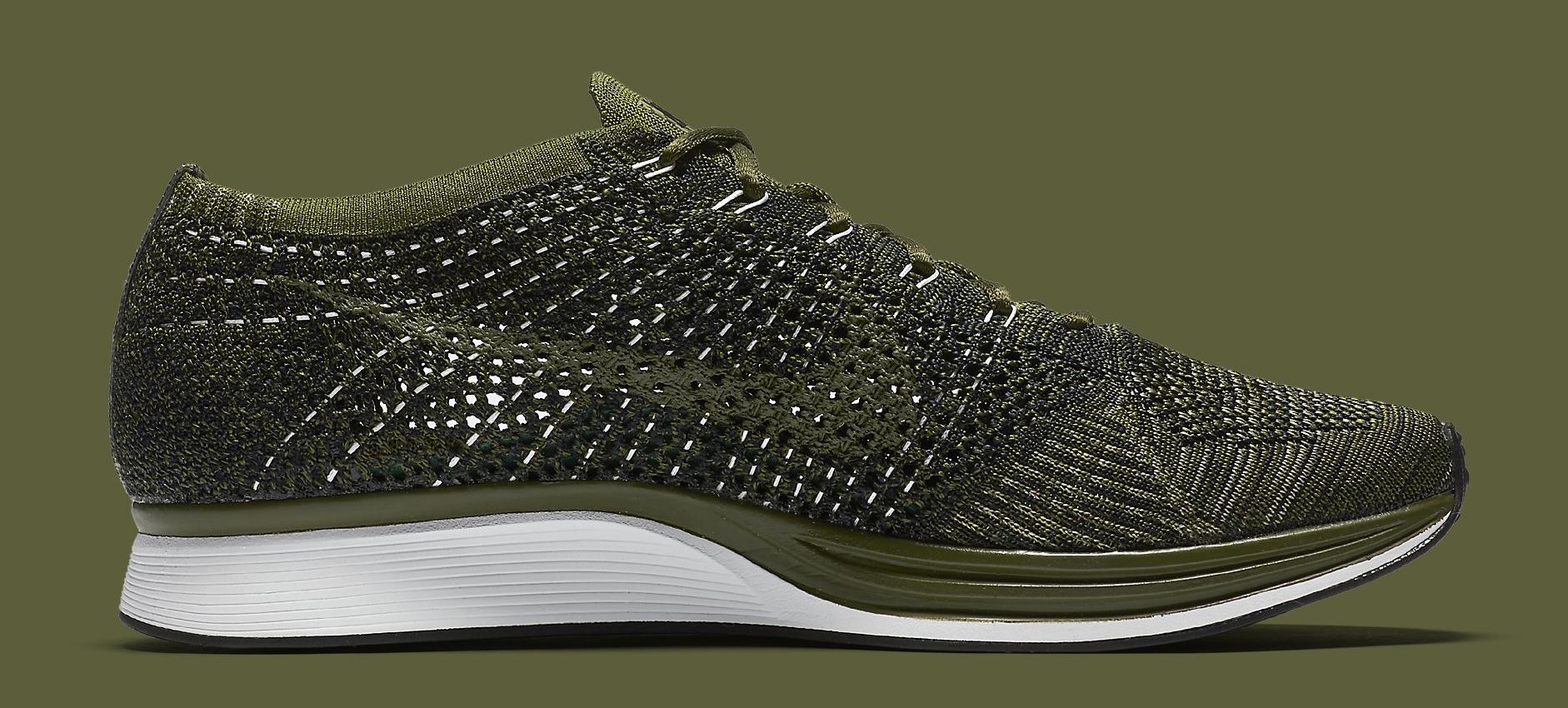 Nike Flyknit Racer Green Camo 862713-300 Medial