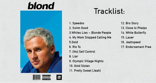 Presenting Ryan Lochte's Debut Album, 'Blonde' news