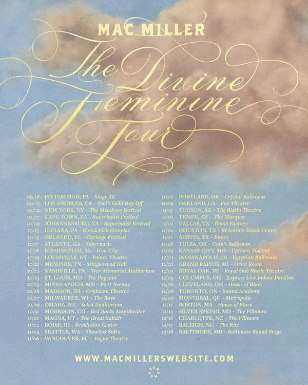 Mac miller Divine Feminine Tour Poster