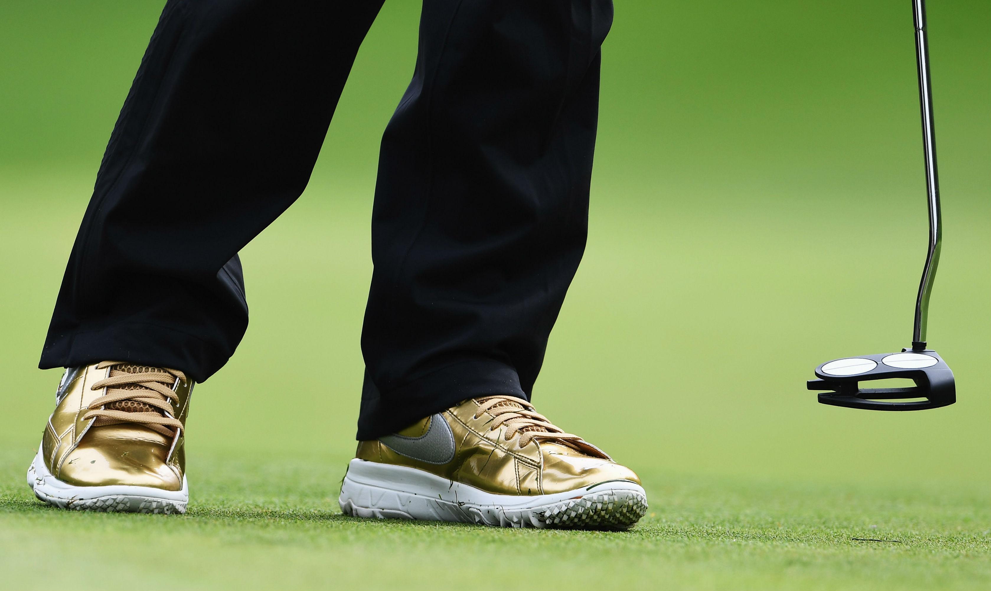 Michelle Wie Gold Nike Blazer Golf