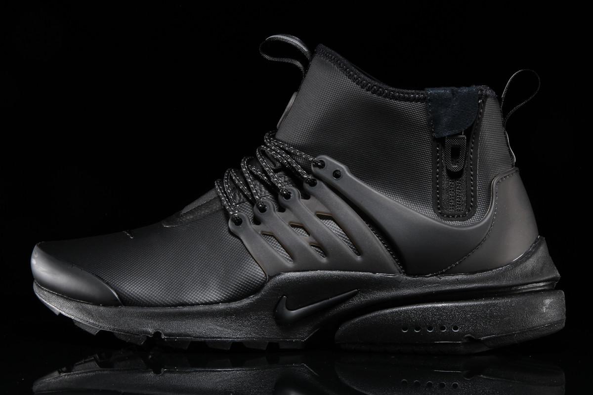Nike Air Presto Utility Mid Triple Black | Sole Collector