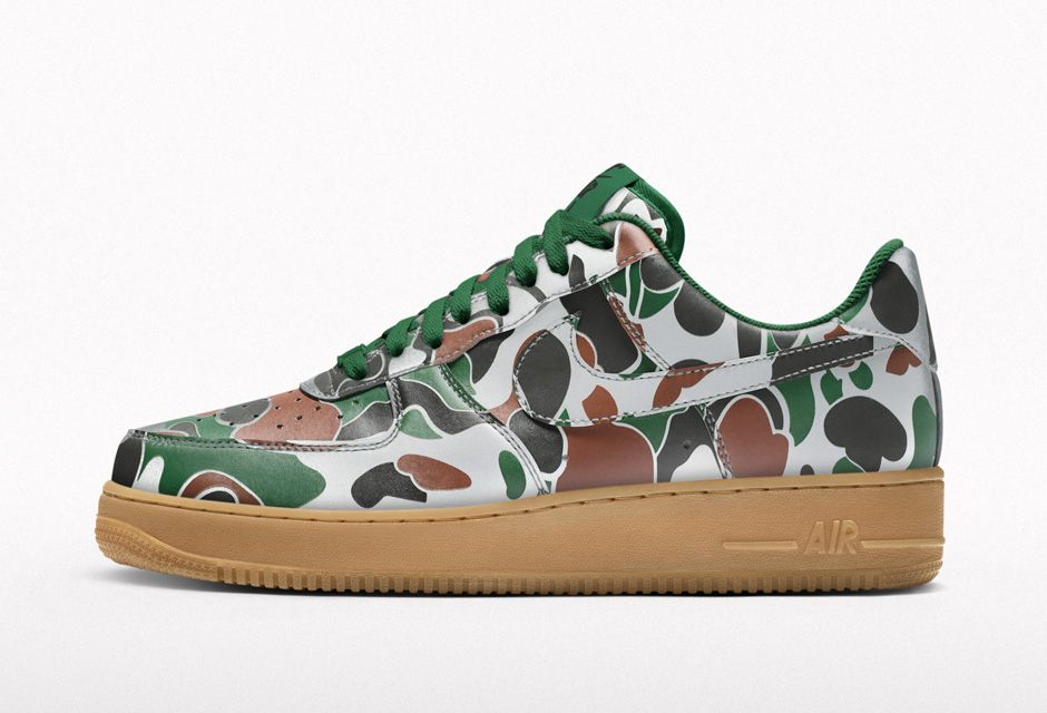 nike air force 1 camo reflective price