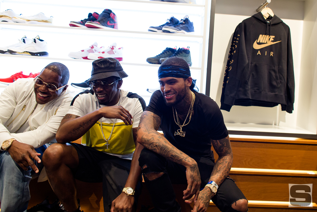 Mase Puff Daddy Dave East at DJ Khaled's Champs Store