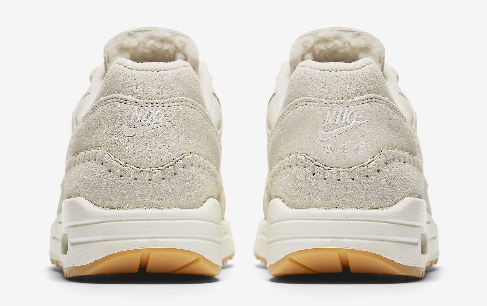 Nike Air Max 1 Sherpa Cream 454746-204 Heel