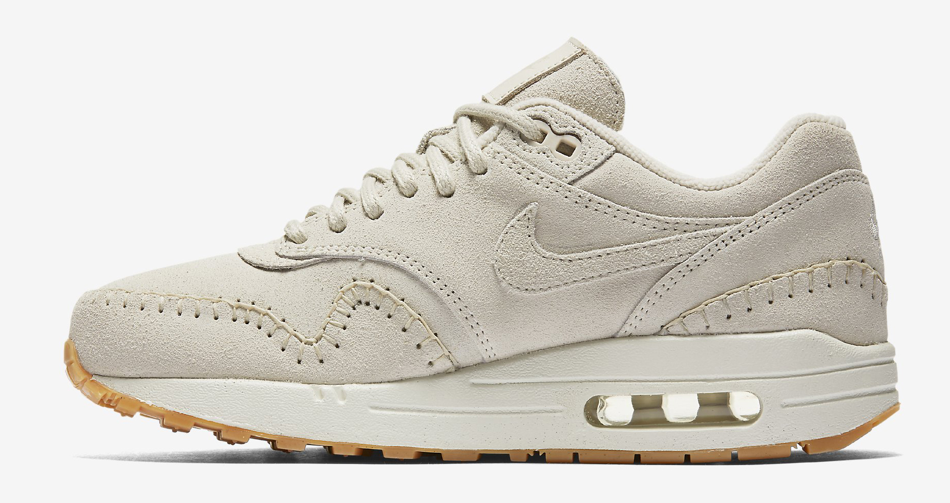 Nike Air Max 1 Sherpa Cream 454746-204 Medial