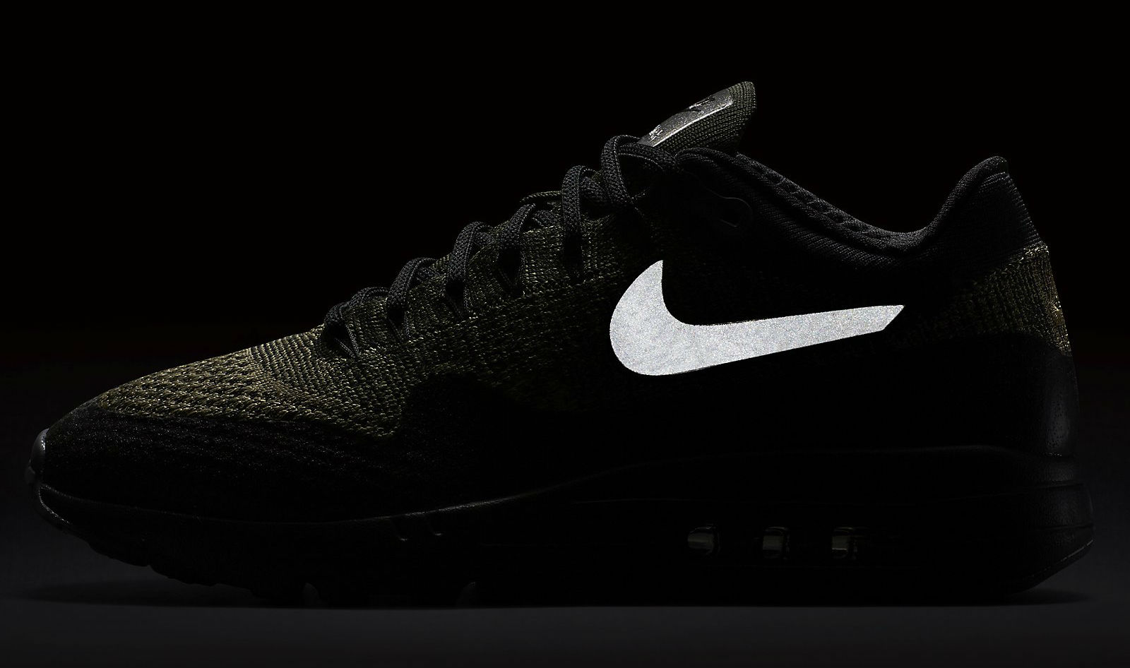 Nike Air Max 1 Ultra Flyknit Neutral Olive/Black-Sequoia Reflective 856958-203