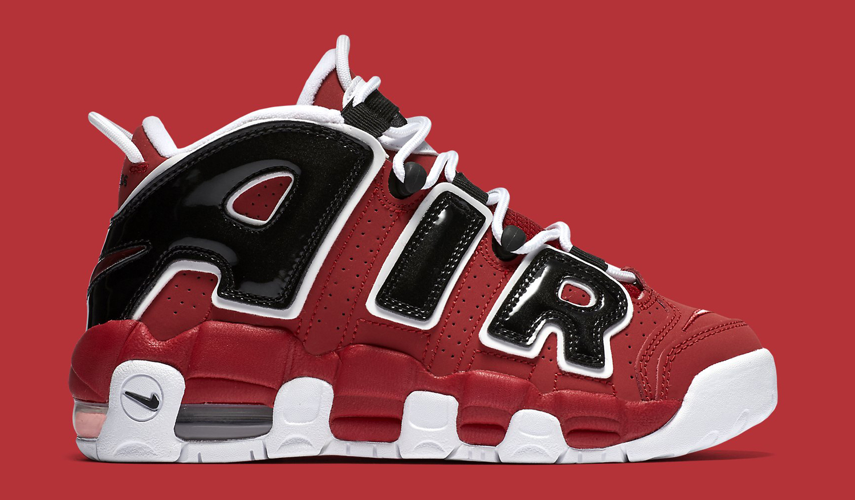 Nike Air More Uptempo Red White Black