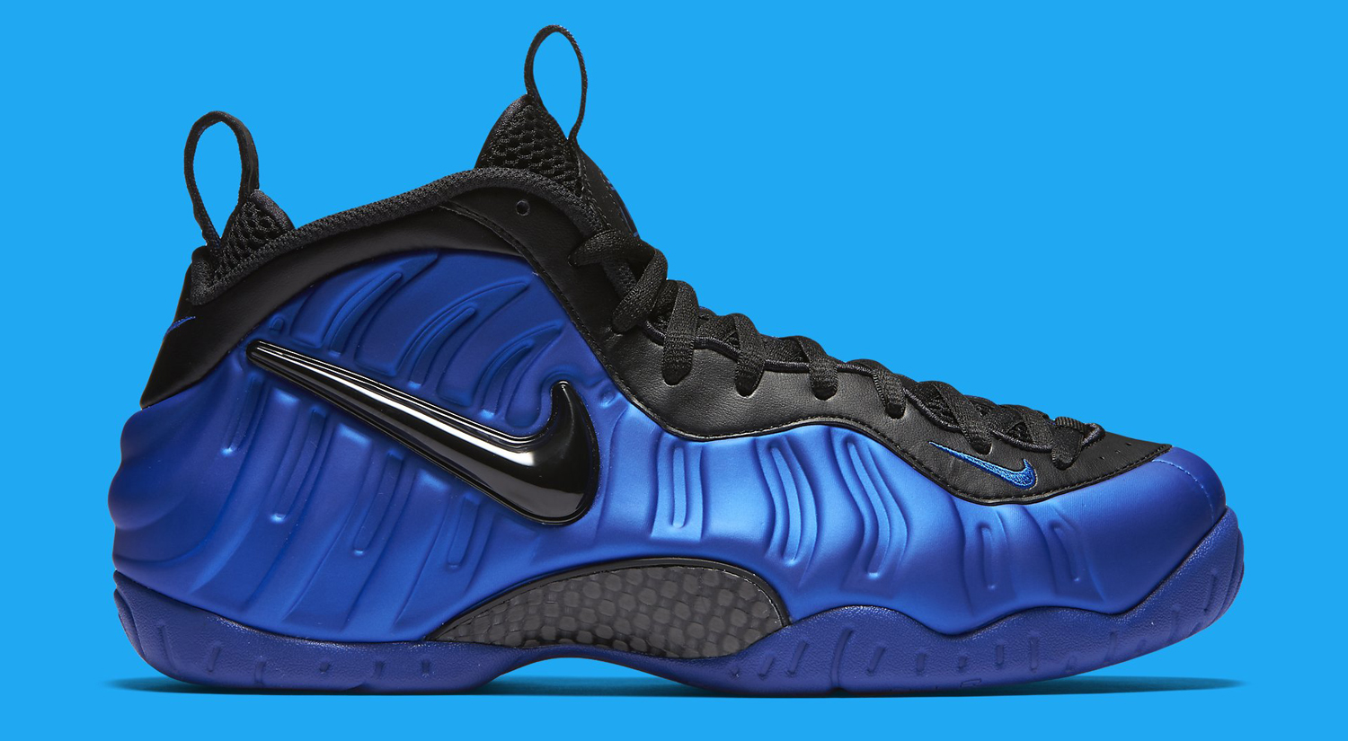 Nike Foamposite Blue And Black