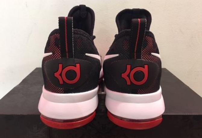 Nike KD 9 Red Black White 843392-610 Heel