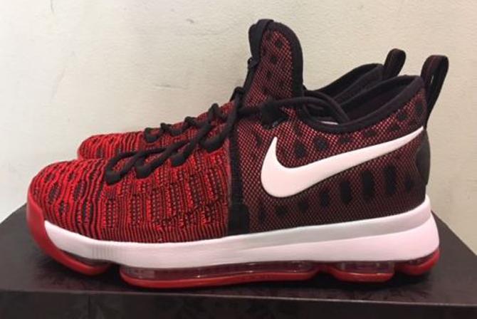 Nike KD 9 Red Black White 843392-610 Profile