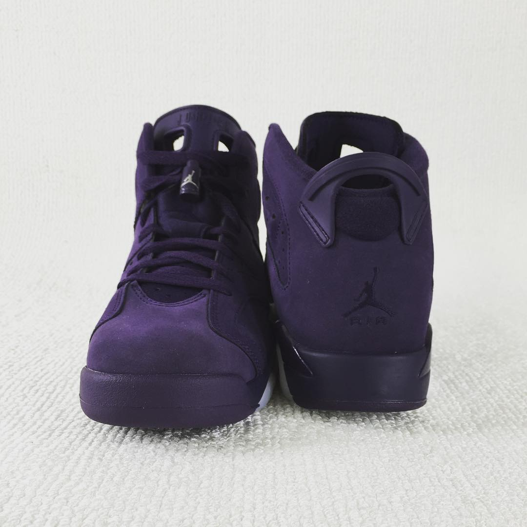 low priced 5adc6 4dab6 Air Jordan 6 GS Indigo Purple Suede 543390-509 | Sole Collector