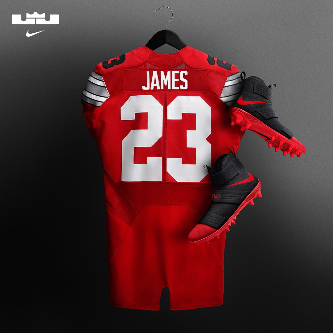 Nike LeBron Soldier 10 Cleats Ohio State Jersey