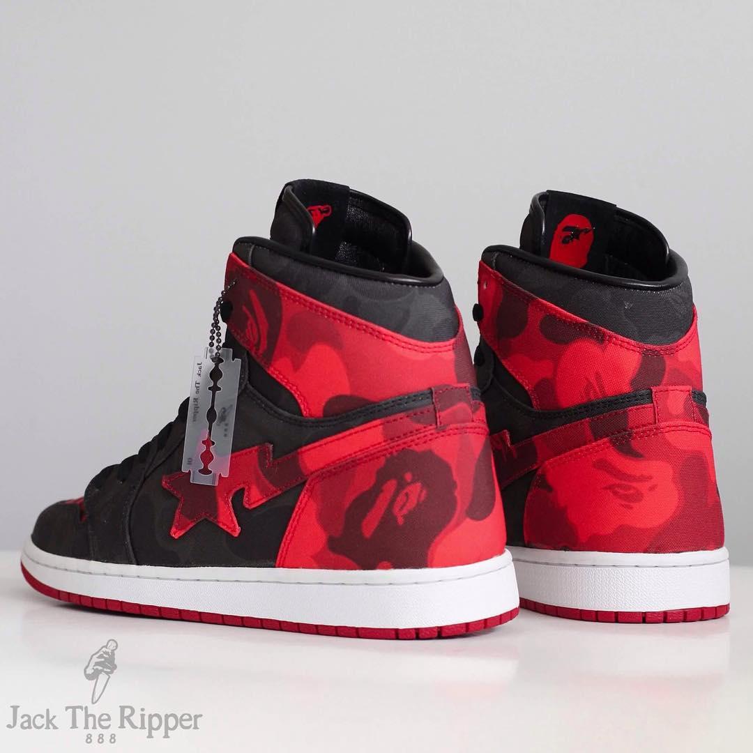 1cab2265766 BAPE x Air Jordan 1 Banned Custom by Jack the Ripper Heel