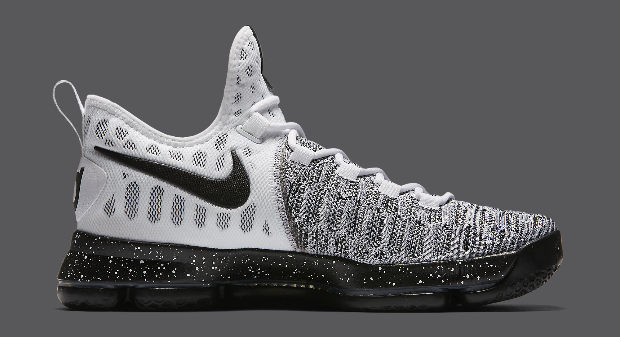 new styles 78319 3f472 Nike KD 9 Black White Oreo 843392-100 | Sole Collector