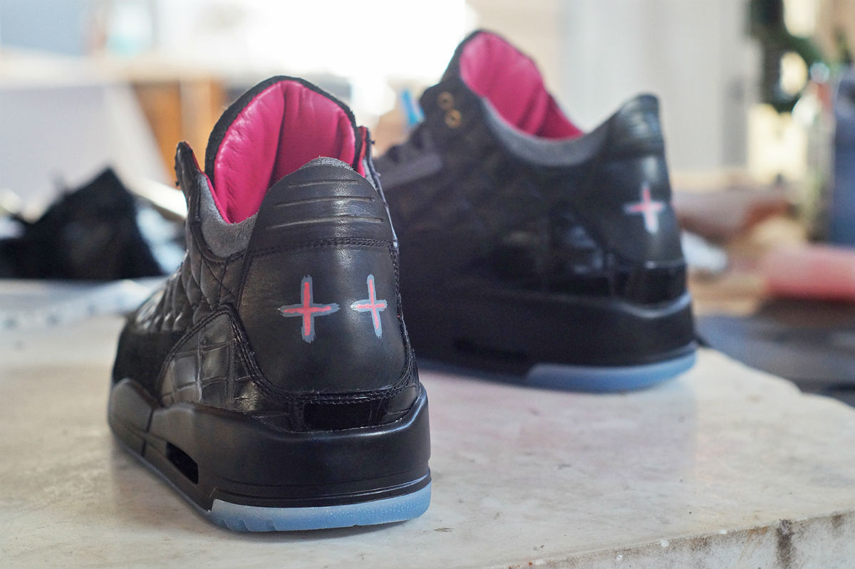 Air Jordan 3 Yeezy & Don C by JBF Customs Heel Wide