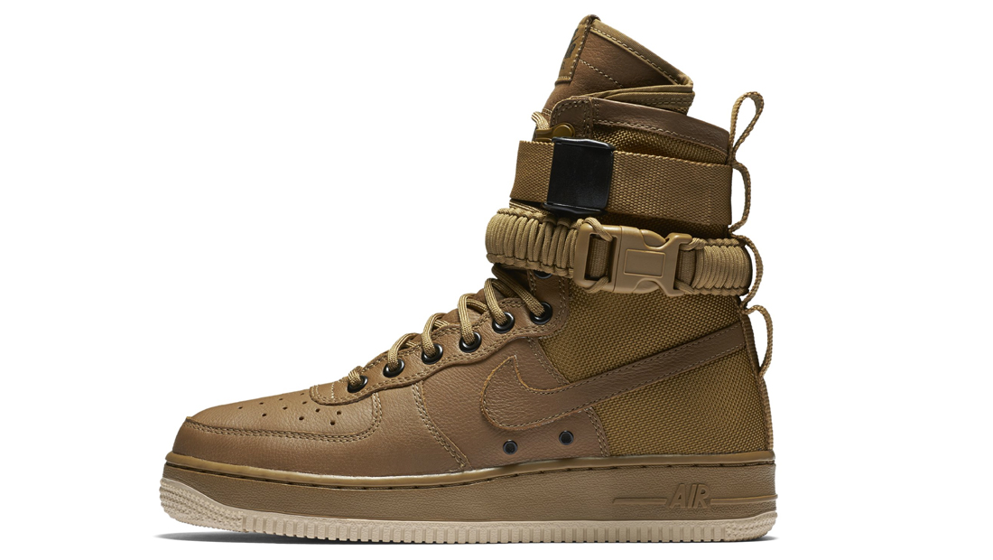 Image via Nike Nike Special Field Air Force 1 Golden Beige Sole Collector  Release Date Roundup