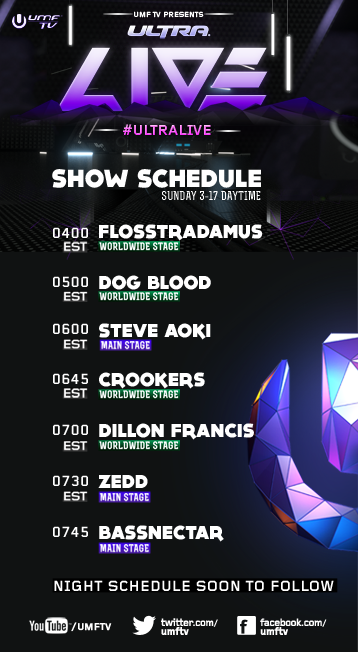 umf day3 schedule 1 Stream the 2013 Ultra Music Festival, Day 3