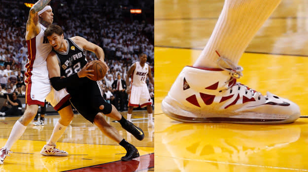 Chris Andersen in the Nike LeBron X