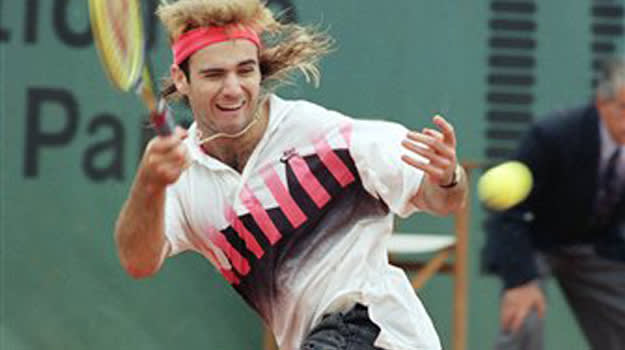 French Open outfit Andre Agassi 1990 1