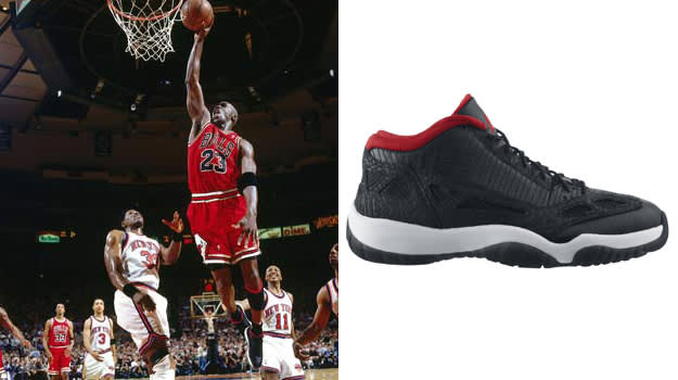 Michael Jordan in the Air Jordan XI IE Low