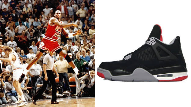 Michael Jordan in the Air Jordan IV