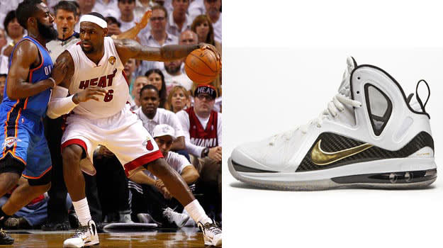 LeBron James in the Nike LeBron 9 Elite