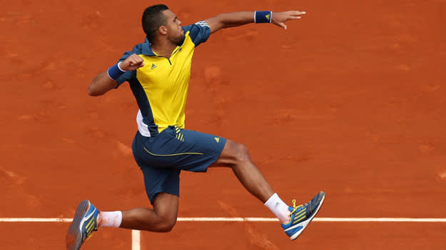 French Open outfit Jo Wilfried Tsonga