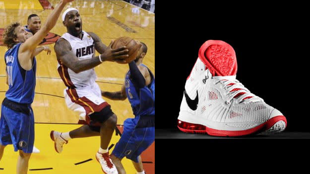 LeBron James in the Nike LeBron 8 PS