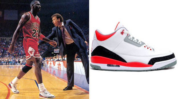 Michael Jordan in the Air Jordan III