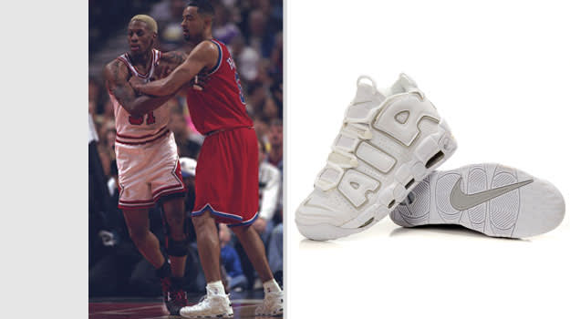 Juwan Howard Washington Bullets Nike Air More Uptempo