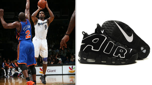 Gilbert Arenas Washington Wizards Nike Air More Uptempo