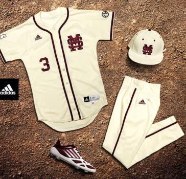 Mississippi baseball jersey adidas