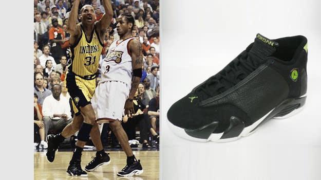 Reggie Miller Indiana Pacers Air Jordan XIV