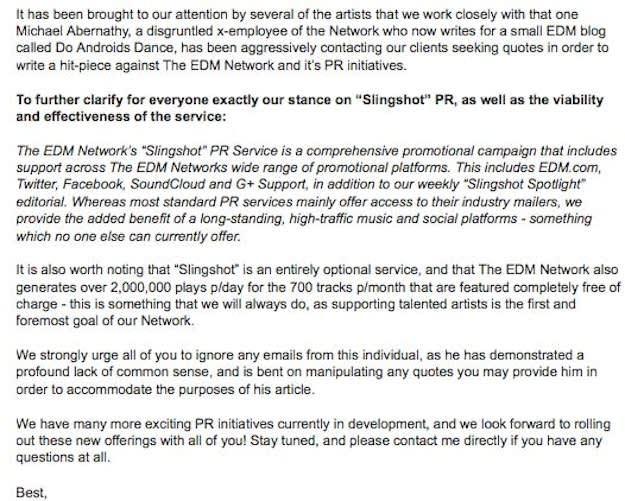 EDM Network Email
