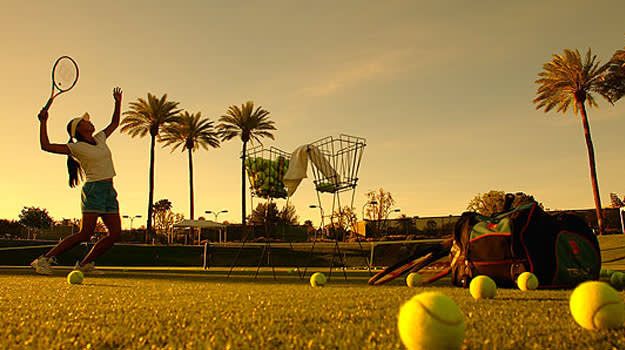 Palm Desert Tennis Facilities at Desert Springs JW Marriott