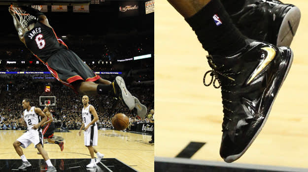 LeBron James in the Nike LeBron X PS Elite PE