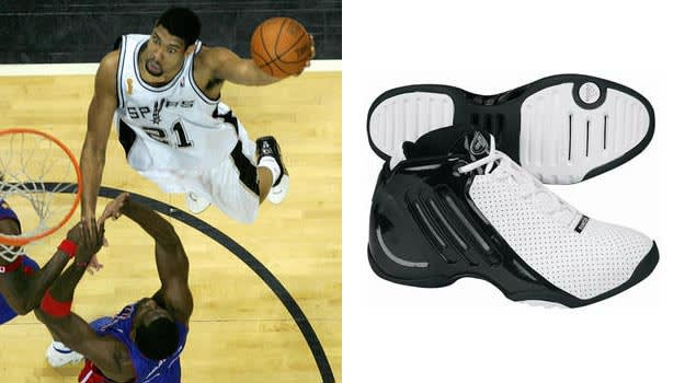 Tim Duncan in the adidas D-Cool