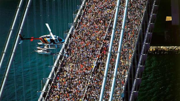 Crowded marathon