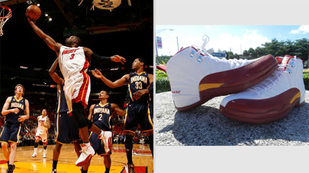 Dwyane Wade Miami Heat Air Jordan XII