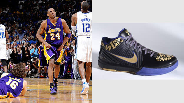 Kobe Bryant in the Nike Zoom Kobe IV