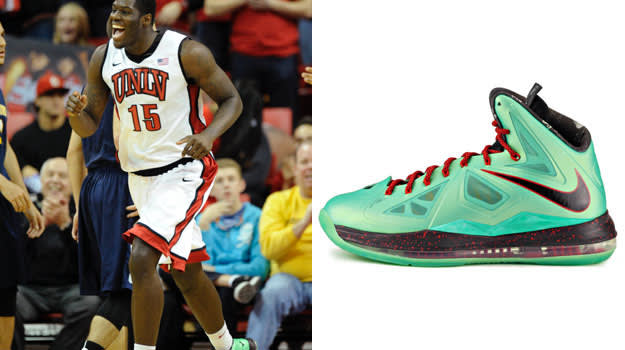 Anthony Bennett in the Nike LeBron X