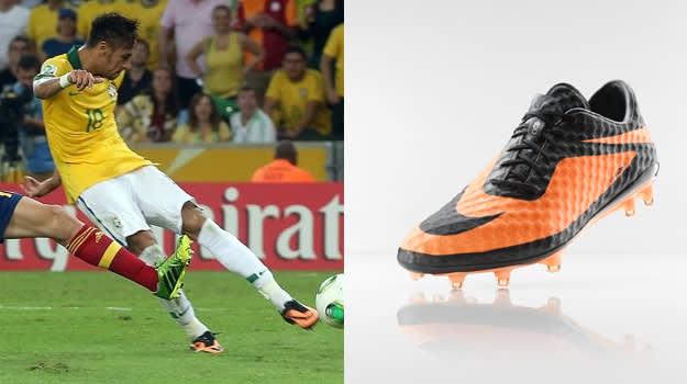 Neymar in the Nike Hypervenom
