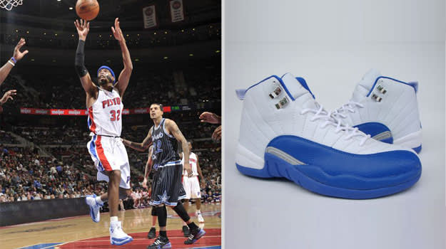 Richard Hamilton Detroit Pistons Air Jordan XII