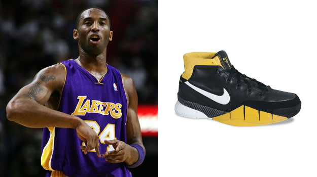 Kobe Bryant in the Nike Zoom Kobe I