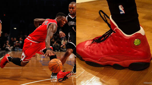 Nate Robinson in the Air Jordan XIII Custom