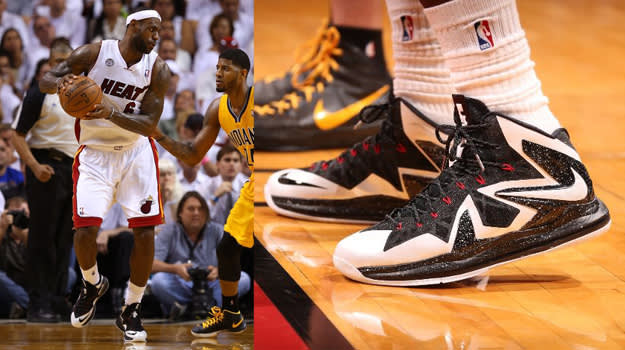 LeBron X PS Elite WhiteBlack PE