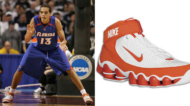 Joakim Noah in the Nike Shox Ups
